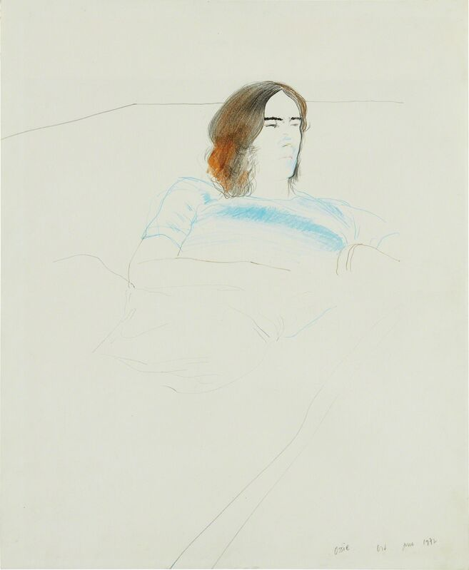 David Hockney, 'Ossie', June 1972, Drawing, Collage or other Work on Paper, Colored pencil and graphite on paper, Phillips