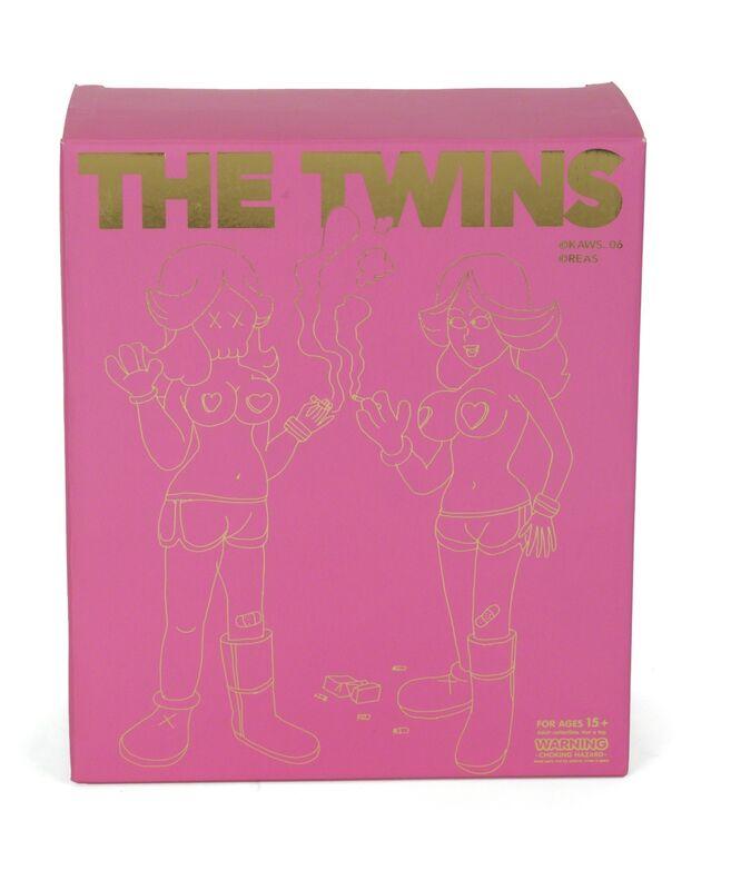 KAWS, 'The Twins (Pink)', 2006, Sculpture, Painted cast vinyl figures (2), Julien's Auctions