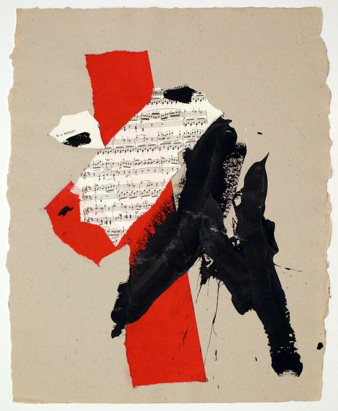 Robert Motherwell, 'M', 1991, Painting, Acrylic and pasted papers on paper, Bernard Jacobson Gallery