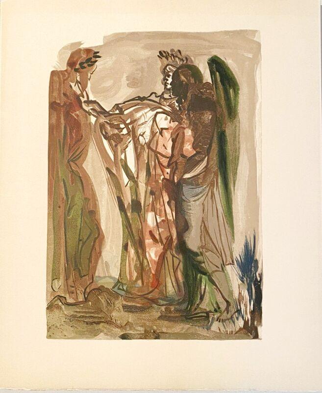 Salvador Dalí, 'La Divine Comédie - Purgatoire 11 - Les orgueilleux', 1963, Print, Original wood engraving on BFK Rives paper, Samhart Gallery