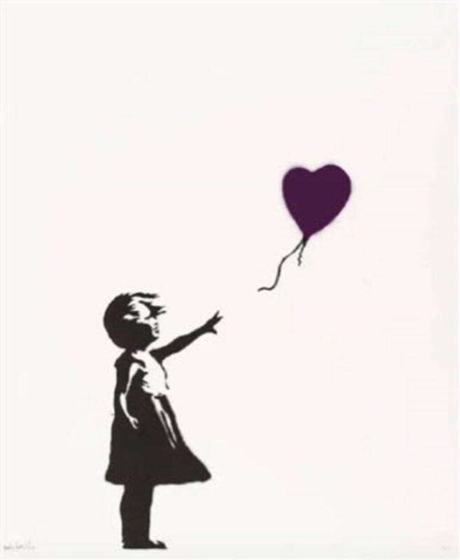 Banksy, 'Girl With Ballon (Purple) ', 2003, Print, Screenprint on paper., Neon Gallery