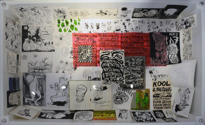 LIBRETAS Y BOCETOS DE MANUEL HERNÁNDEZ RUÍZ (Manuel Hernandez Ruíz's Notebooks and Sketches), installation view