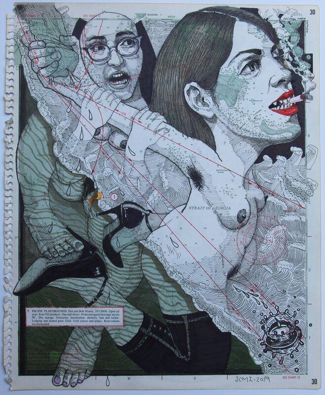 JUAN CARLOS MACIAS, 'MAR AMARELO ', 2019, Drawing, Collage or other Work on Paper, Mixta/Papel, Quetzalli Arte y Diseño