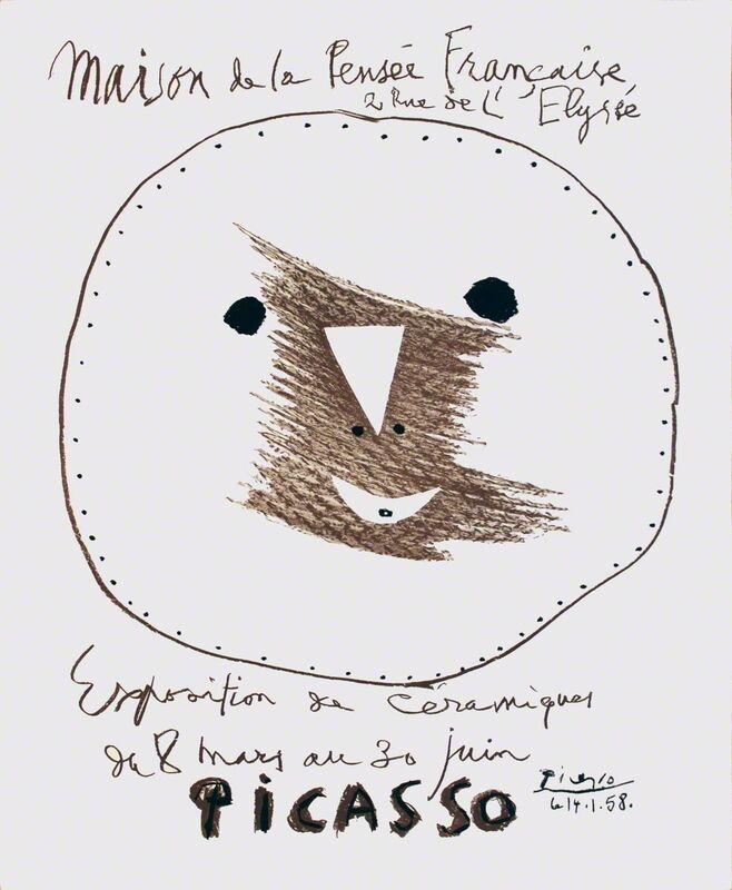 Pablo Picasso, 'Maison de la Pensee Francaise', 1958, Print, Stone Lithograph, ArtWise