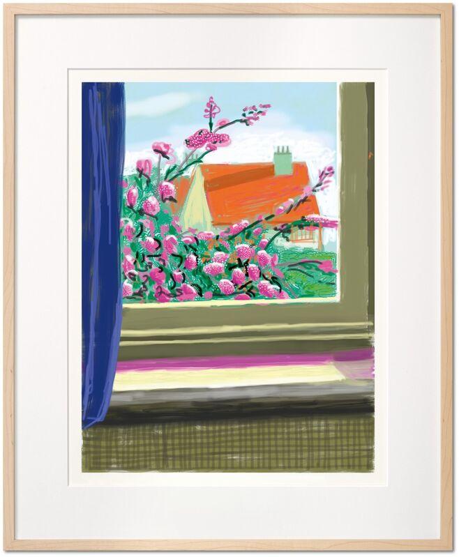 David Hockney, 'My Window , iPad drawing 'No. 778', 17th April 2011', 2020, Print, 8 color inkjet print on cotton fiber archival pape, Tanya Baxter Contemporary