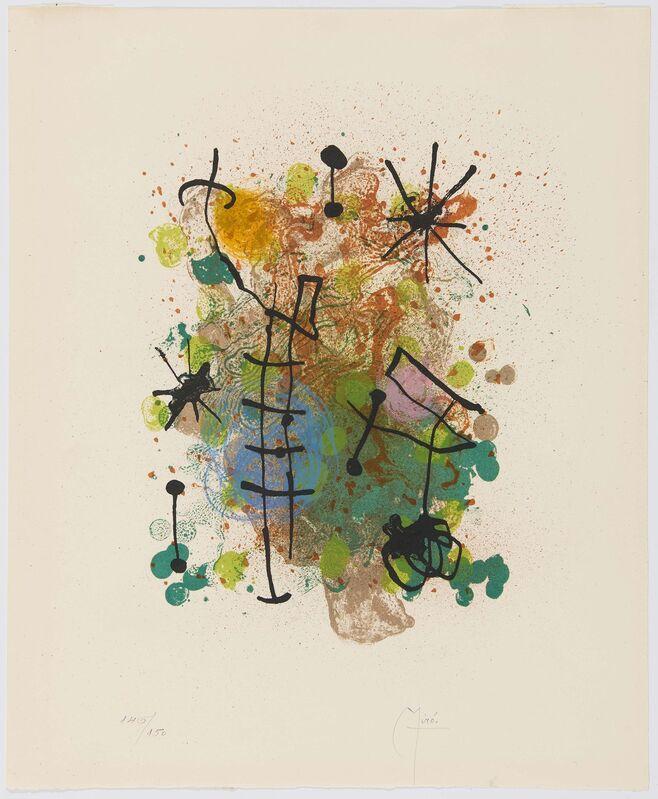 Joan Miró, 'Constelaciones', 1959, Print, Colour lithograph on Arches, Van Ham
