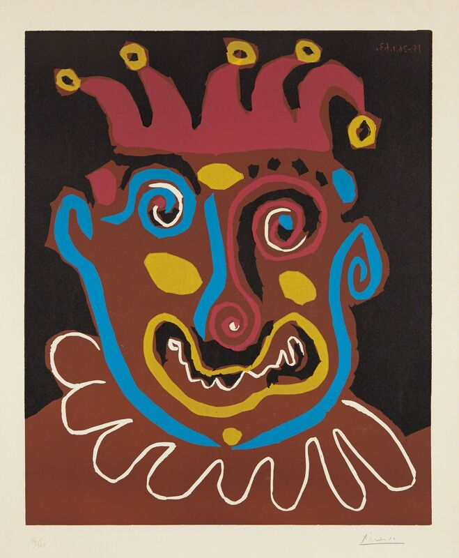 Pablo Picasso, 'Le vieux roi (The Old King)', 1963, Print, Linocut in colors, on Arches paper, with full margins, Phillips