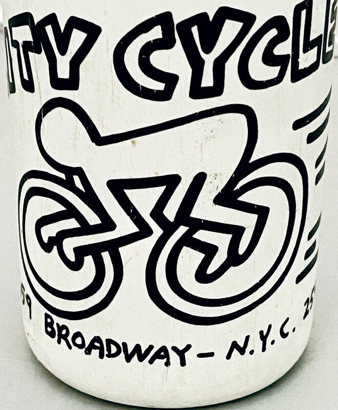 Keith Haring, 'Keith Haring City Cycles 1985 collectible ', 1985, Ephemera or Merchandise, Offset lithograph on plastic sports bottle, Lot 180