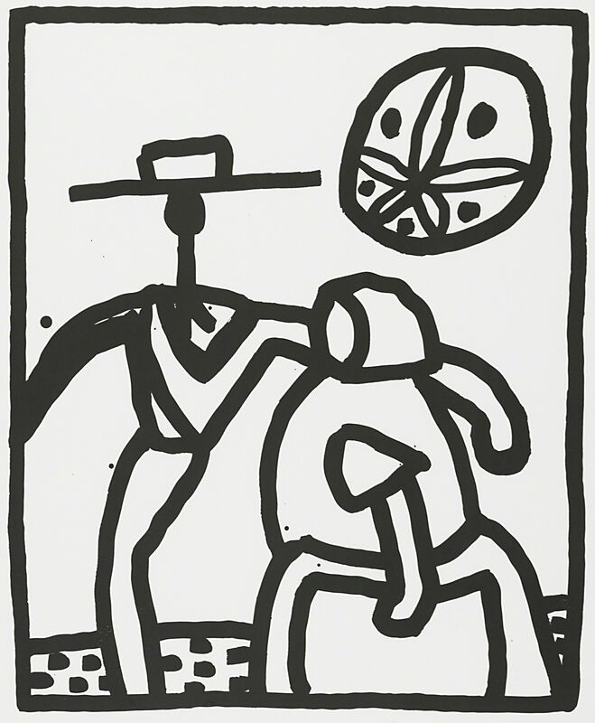 Keith Haring, 'Untitled (Amish Couple)', 1989, Print, Screenprint on paper, Rago/Wright