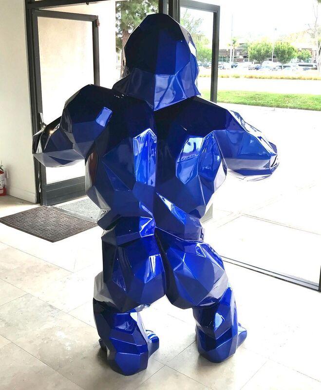Richard Orlinski, 'Kong - Bleu Mick ', ca. 2021, Sculpture, Resin and paint, Markowicz Fine Art