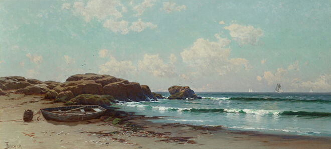 Alfred Thompson Bricher, 'Afternoon by the Ocean'