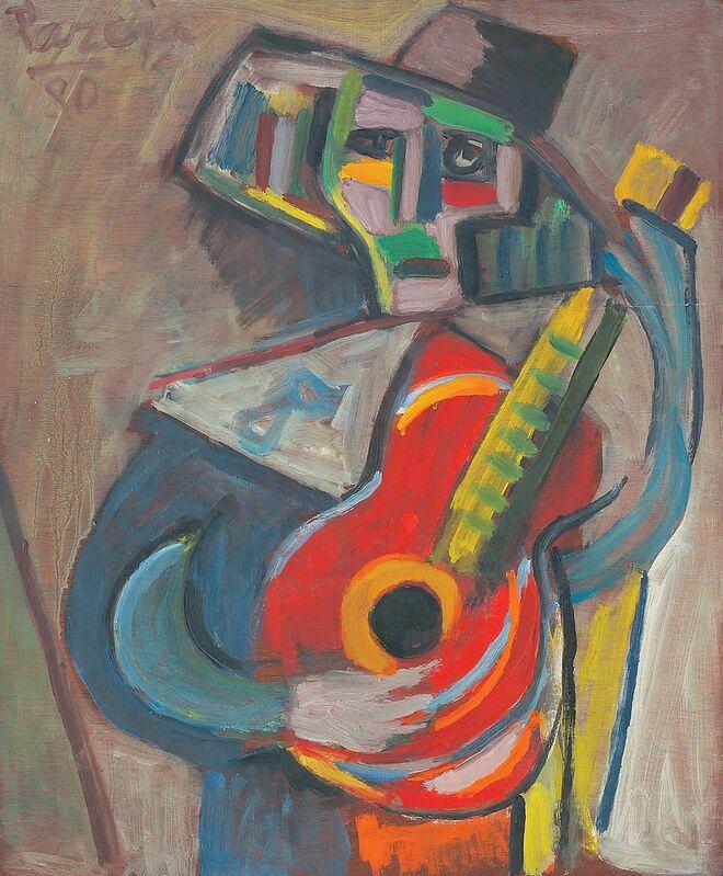 Miguel Ángel Pareja, 'Payador', 1980, Painting, Oil on wood, Galería de las Misiones