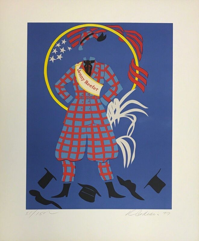 Robert Indiana, 'JENNY REEFER', 1977, Print, LITHOGRAPH ON ARCHES PAPER, Gallery Art