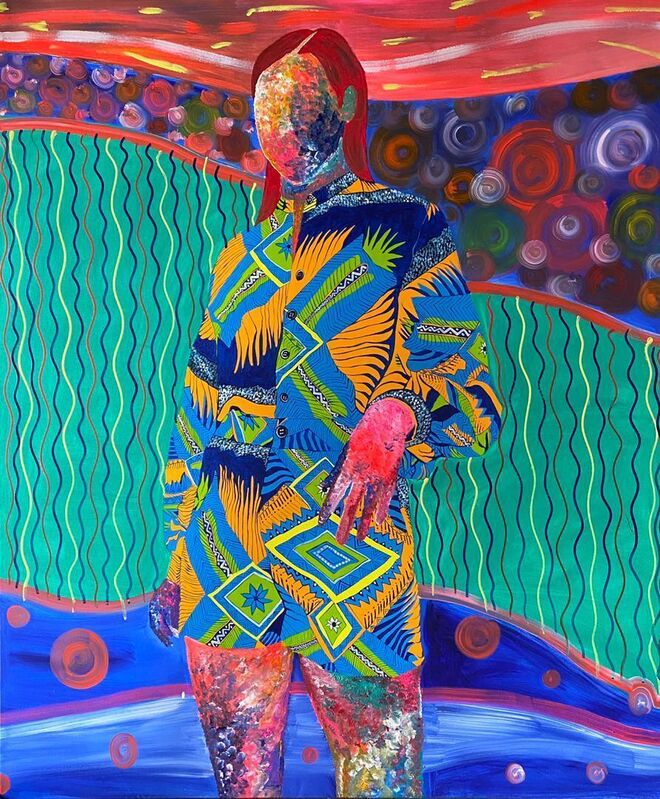 Ajarb Bernard Ategwa, 'Black classic lady #2', 2021, Painting, Acrylic on canvas, Jack Bell Gallery