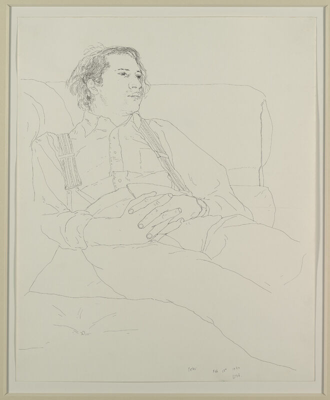 David Hockney, 'Peter', 1972, Drawing, Collage or other Work on Paper, Pen and Black Ink on Paper, David Lawrence Gallery