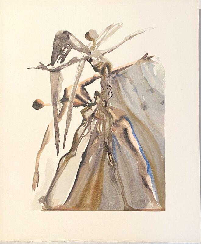 Salvador Dalí, 'La Divine Comédie - Purgatoire 04 - Les Négligents', 1963, Print, Original wood engraving on BFK Rives paper, Samhart Gallery