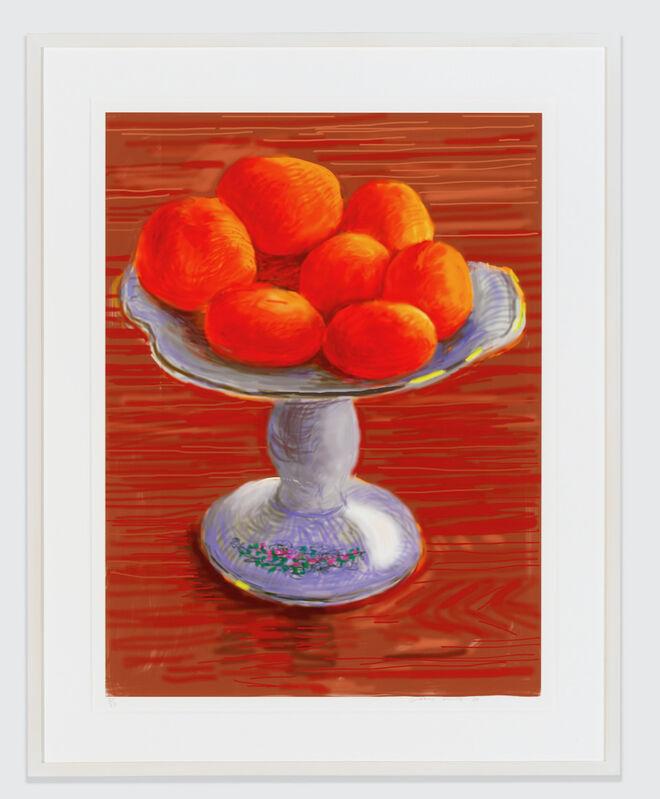 David Hockney, 'Tangerines', 2010, Print, IPad drawing printed on paper, Dallas Collectors Club