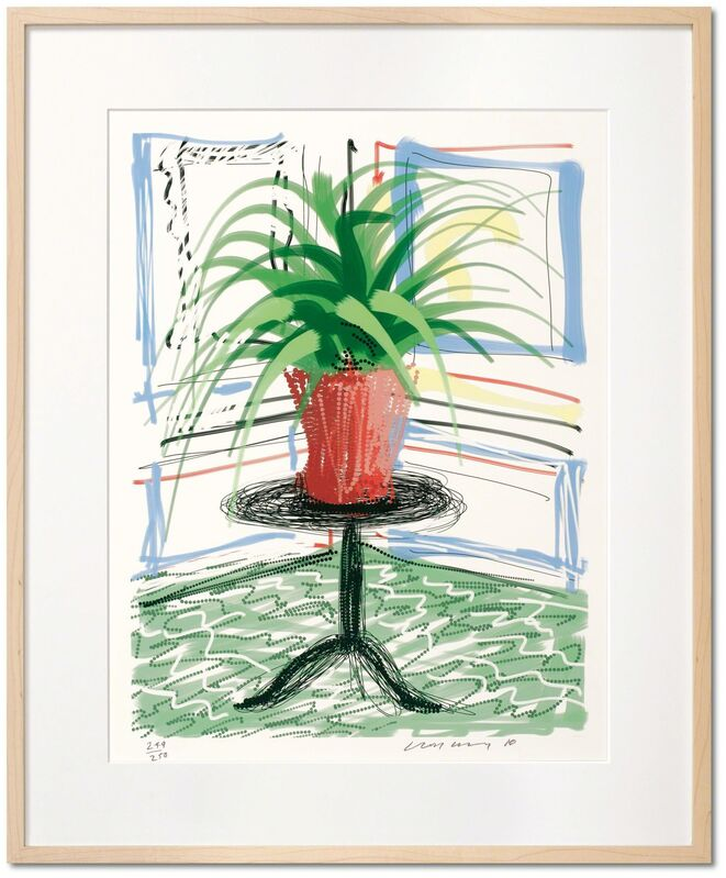 David Hockney, 'David Hockney. A Bigger Book. Art Edition C, No. 501–750', 2016, Other, Hardcover, 498 pages, 13 fold-outs, 50 x 70 cm (19.7 x 27.5 in.); with iPad drawing Untitled, 468, 2010, signed by the artist and numbered, 8-color ink-jet print on cotton-fibre archival paper, 33 x 44 cm (12.9 x 17.3 in.) on 43.2 x 56 cm (17 x 22 in.) paper; an adjustable bookstand by Marc Newson; and an illustrated 680-page chronology book, TASCHEN