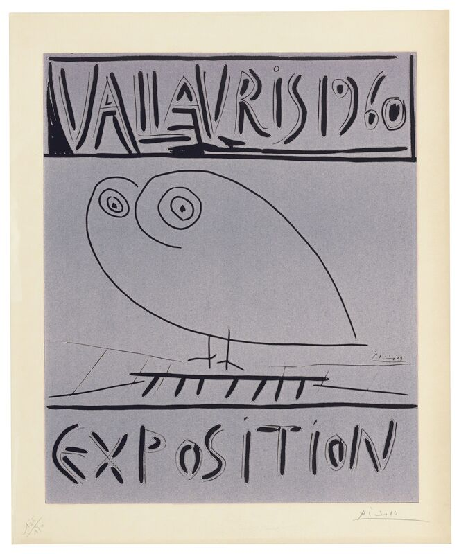Pablo Picasso, 'Vallauris 1960 Exposition', 1960, Print, Linocut printed in black and pink on Arches wove paper, Christie's