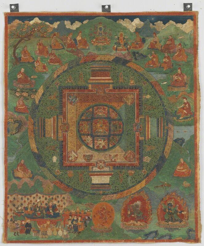 'Guhyasamaja Manjuvajra Mandala', 16th century, Painting, Pigments on cloth, Rubin Museum of Art