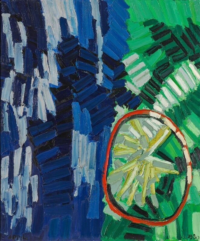 Karel Appel, 'Landscape with Wheel', 1980, Painting, Oil on canvas, Phillips Collection