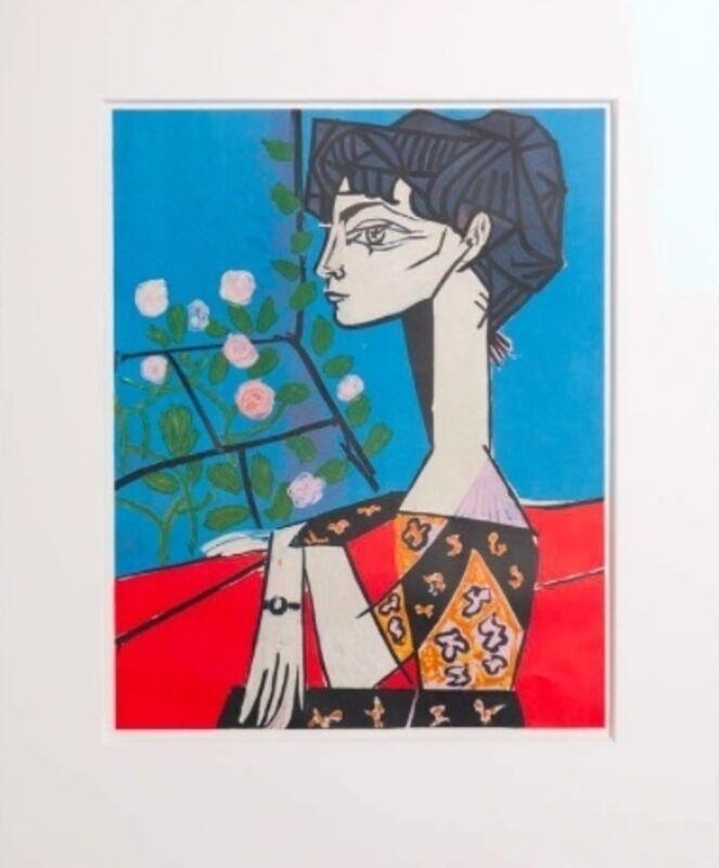 Pablo Picasso, 'Jacqueline avec Fleurs', 1956, Print, Lithograph, Van der Vorst- Art