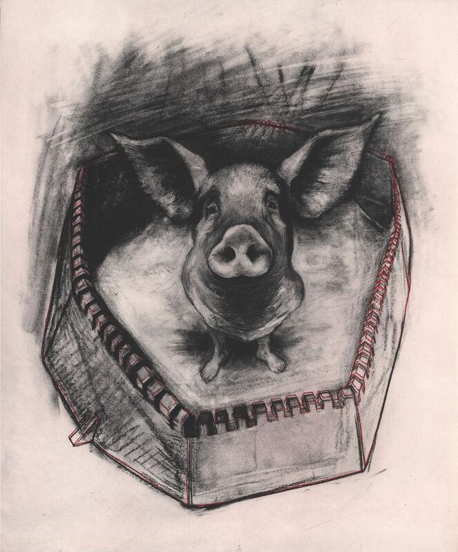 Rita Duffy, 'Pigheaded', 2013, Print, Intaglio, Stoney Road Press