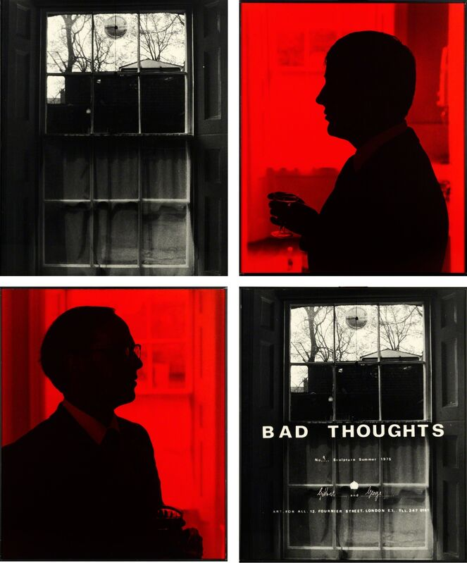 Gilbert and George, 'BAD THOUGHTS (No. 9)', 1975, Photography, Four photographs, Stedelijk Museum Amsterdam