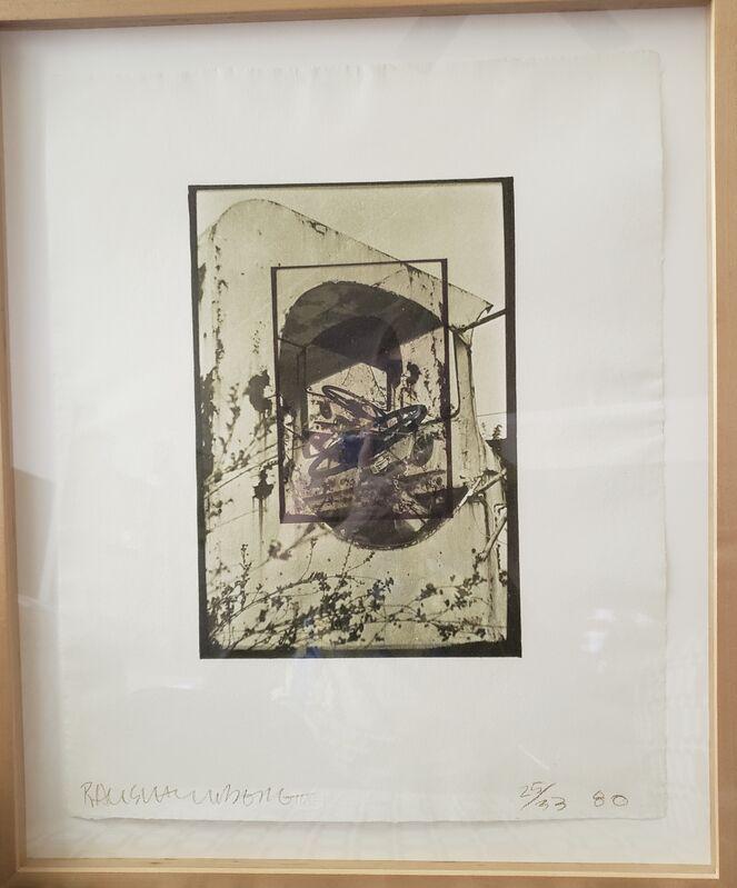 Robert Rauschenberg, 'White Pendulum', 1980, Print, Lithograph in 2 colors on handmade J. Whatman 1956 English paper, Universal Limited Art Editions