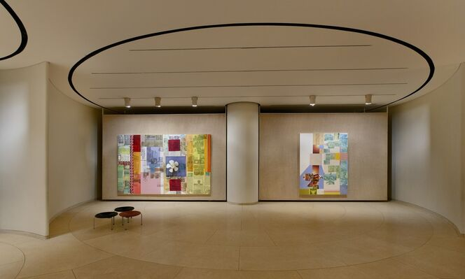 Robert Rauschenberg: Spreads and Related Works, installation view