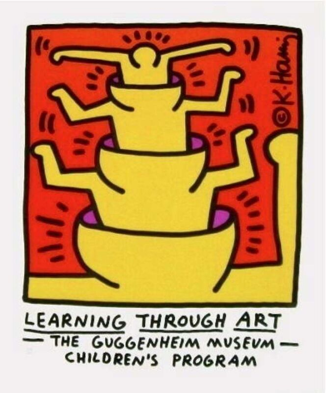 Keith Haring, 'Learning Through Art, 1990 Guggenheim Museum Exhibition Lithograph', 1990, Print, Lithograph on Arches paper, Art Commerce