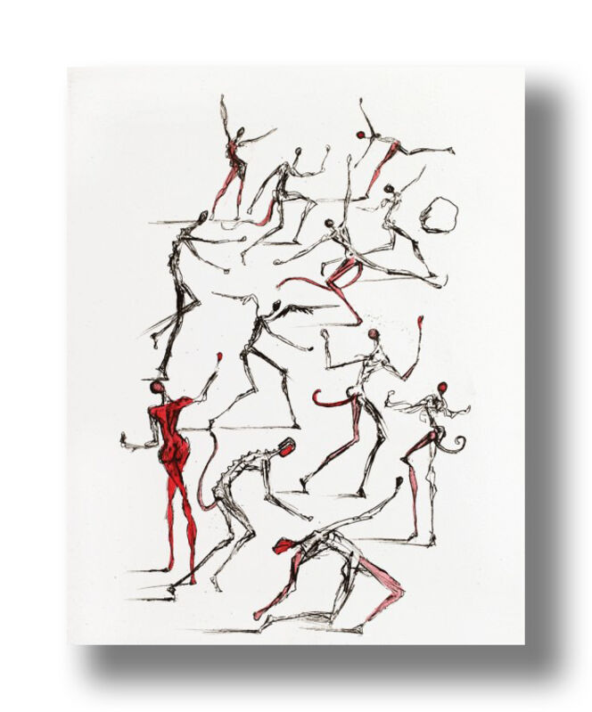 Salvador Dalí, 'The Demons', 1967, Print, Drypoint on Paper, Animazing Gallery