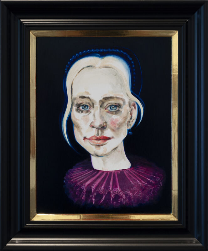 Dee Smart, 'Susie in Pink', 2019, Painting, Oil on board, water gilded frame, Nanda\Hobbs