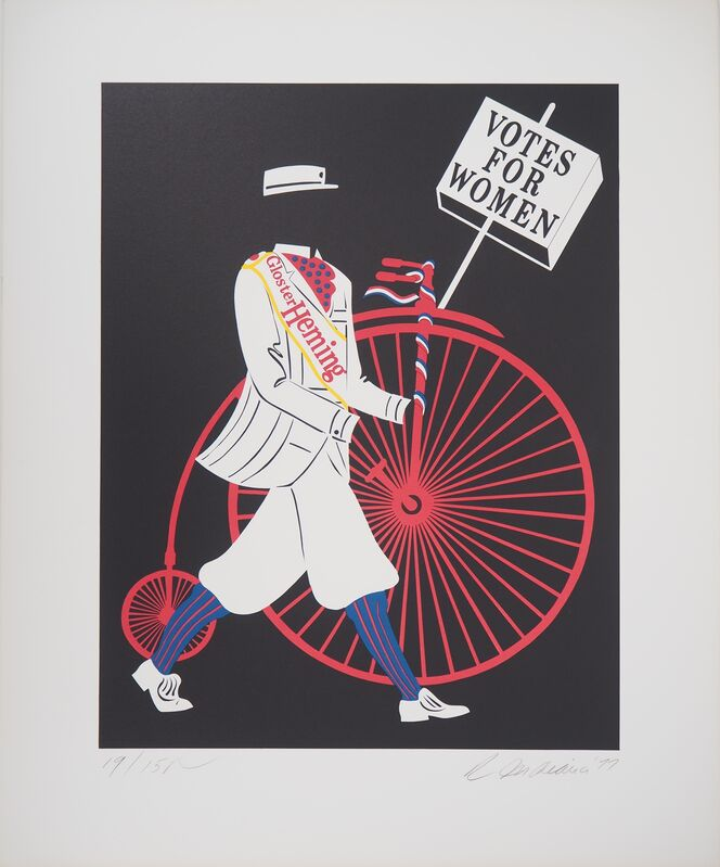 Robert Indiana, 'Votes for Women - Original lithograph signed in pencil', 20, Print, Lithograph, AFL