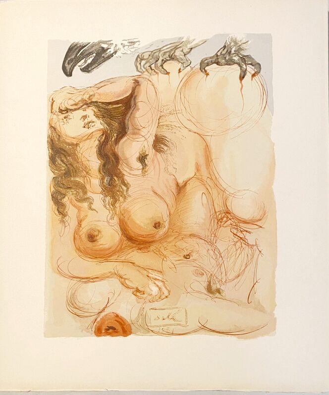 Salvador Dalí, 'La Divine Comédie - Purgatoire 09 - Le Songe', 1963, Print, Original wood engraving on BFK Rives paper, Samhart Gallery