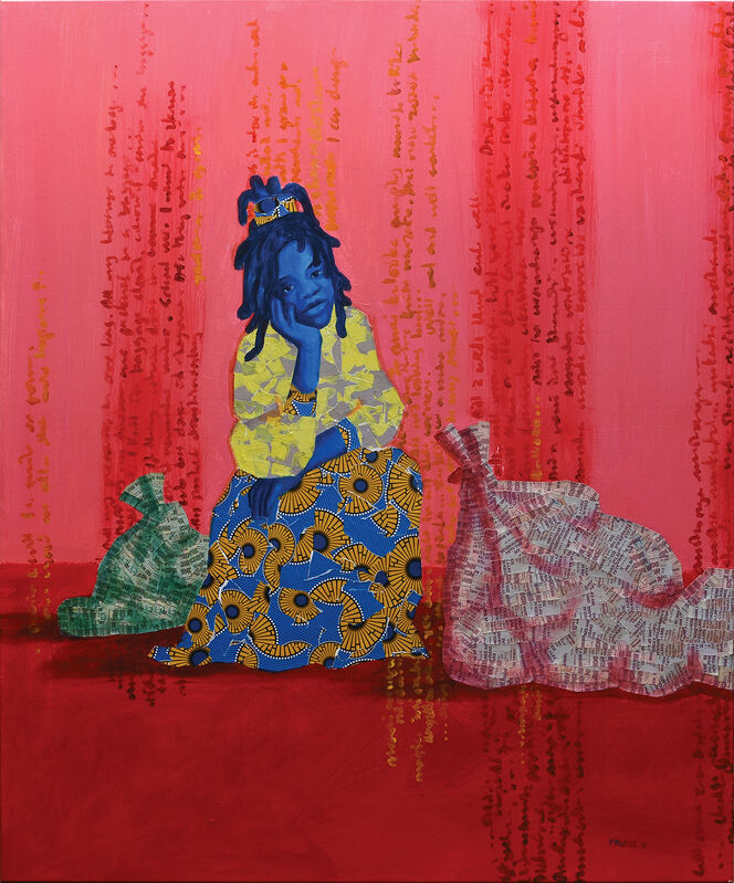 Prudence (Prudie) Chimutuwah, 'Tsapo IV.', 2021, Painting, Acrylic with collage and varnish on canvas, Peter Harrington Gallery