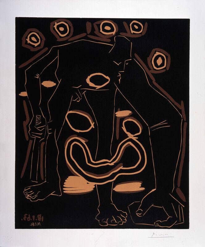 Pablo Picasso, 'Homme au Bâton / Vieux Bouffon', 1963, Print, Linocut printed in colours, Frederick Mulder