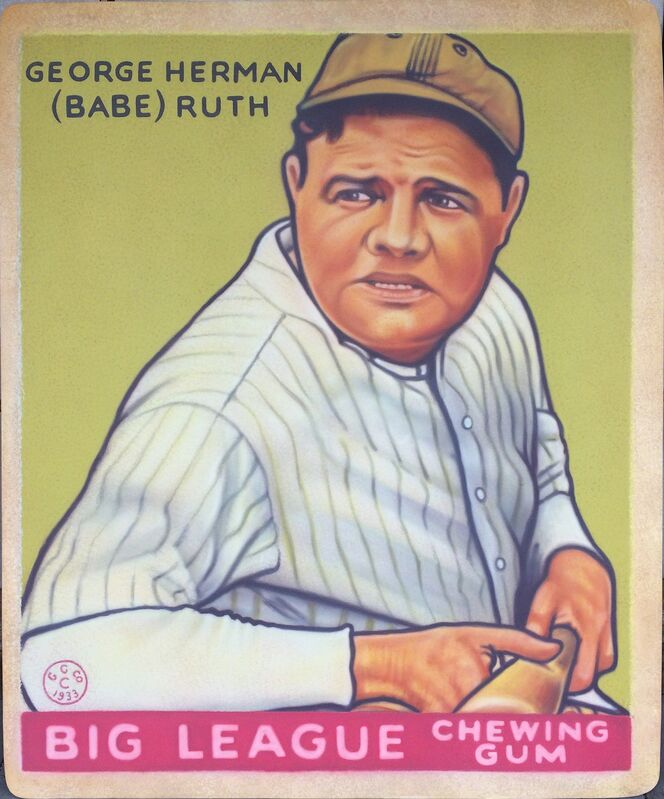 George Mead, '1933 Goudey - Babe Ruth', 2017, Painting, Acrylic on PVC in Acrylic Case, Axiom Contemporary