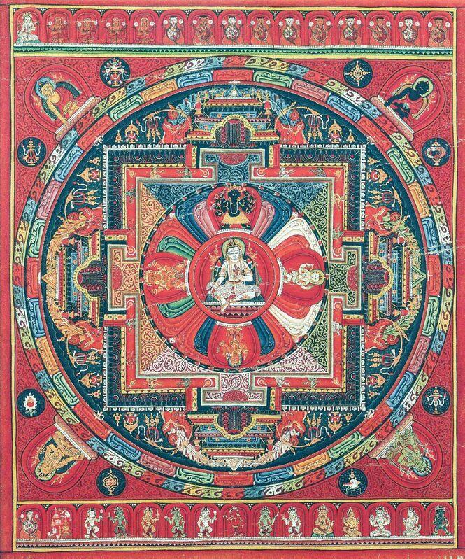 'Amoghapasha - Avalokiteshvara (Unfailing Lasso)', 15th century, Painting, Pigments on cloth, Rubin Museum of Art