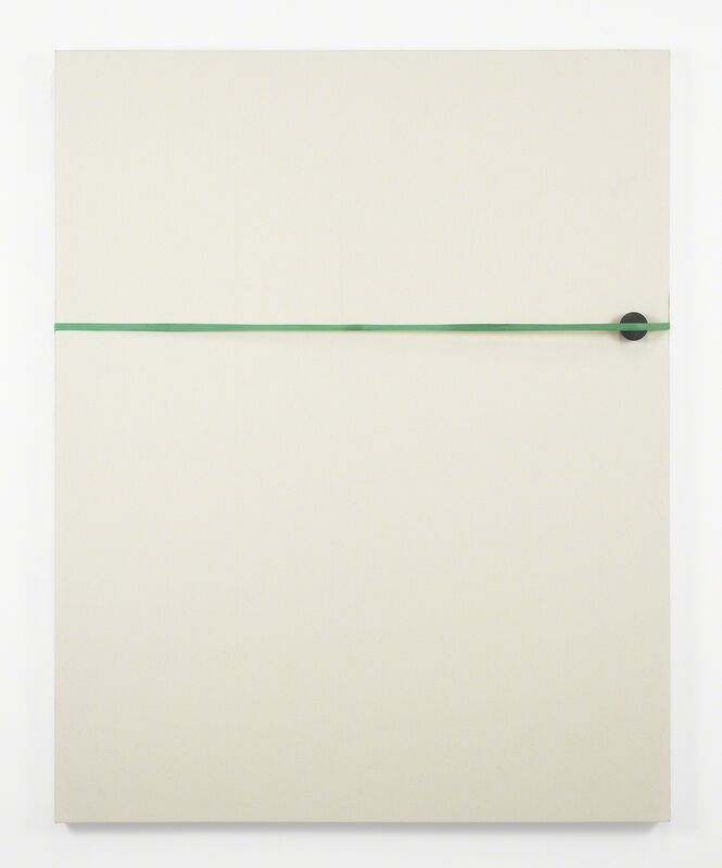Alex Perweiler and Zachary Susskind, 'The Gap ', 2013, Painting, Industrial rubber band, hand ball and dirt on canvas, The Still House Group