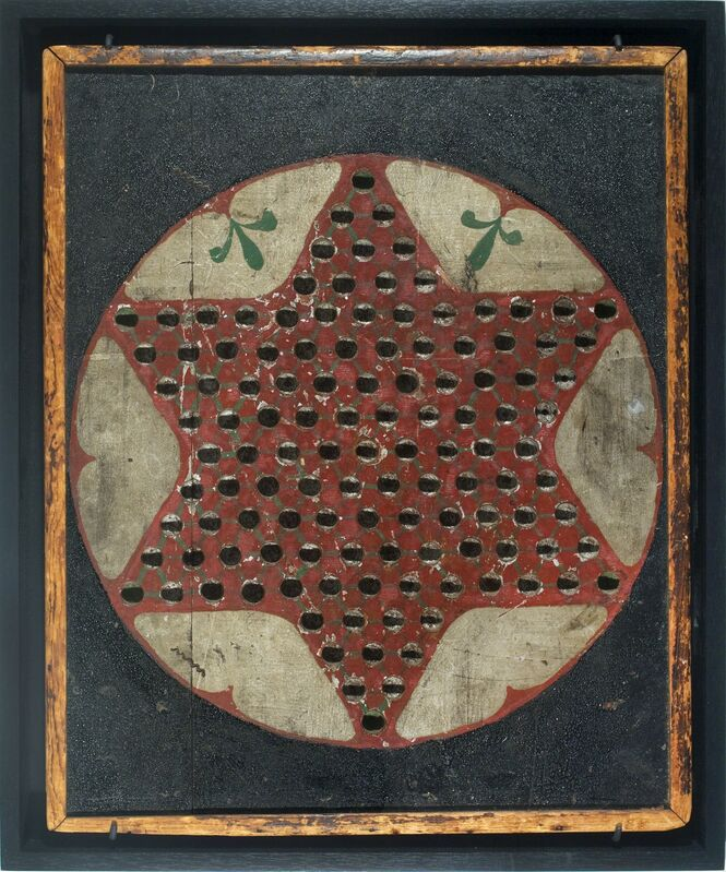 Unknown Artist, 'Chinese Checkers Game Board', ca. 19, Sculpture, Wood with original painted surface, Ricco/Maresca Gallery