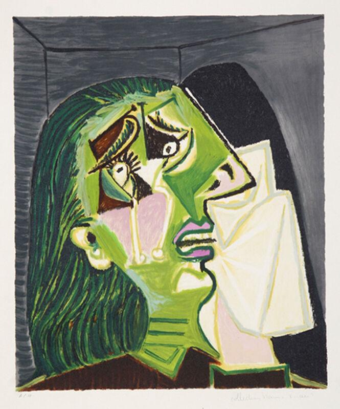 Pablo Picasso, 'Femme au Mouchoir', 1937, Print, Lithograph on Arches paper, michael lisi / contemporary art