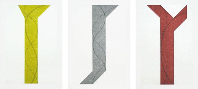 Robert Mangold (b.1937), 'Untitled I, II, III', 2007