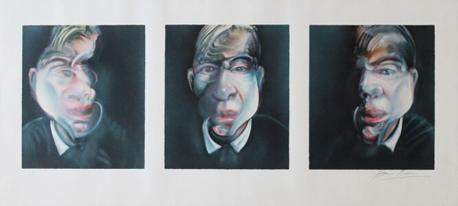 Francis Bacon, 'Three studies for a self portrait', 1981