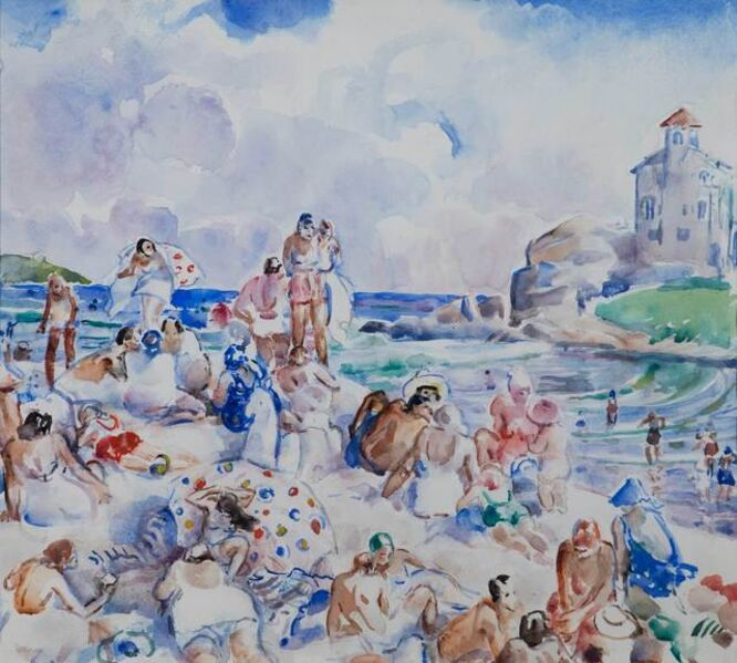 Martha Walter, 'At the Beach (possibly Bass Rocks, Gloucester)', 19th -20th Century