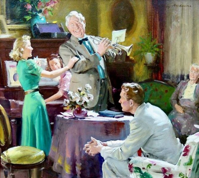 Harry Anderson, 'Weekend with the Family, Woman's Home Companion, 1940', 1940
