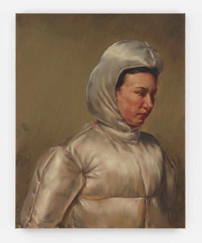 Michaël Borremans, 'The Commuter', 2021, Painting, Oil on canvas, David Zwirner