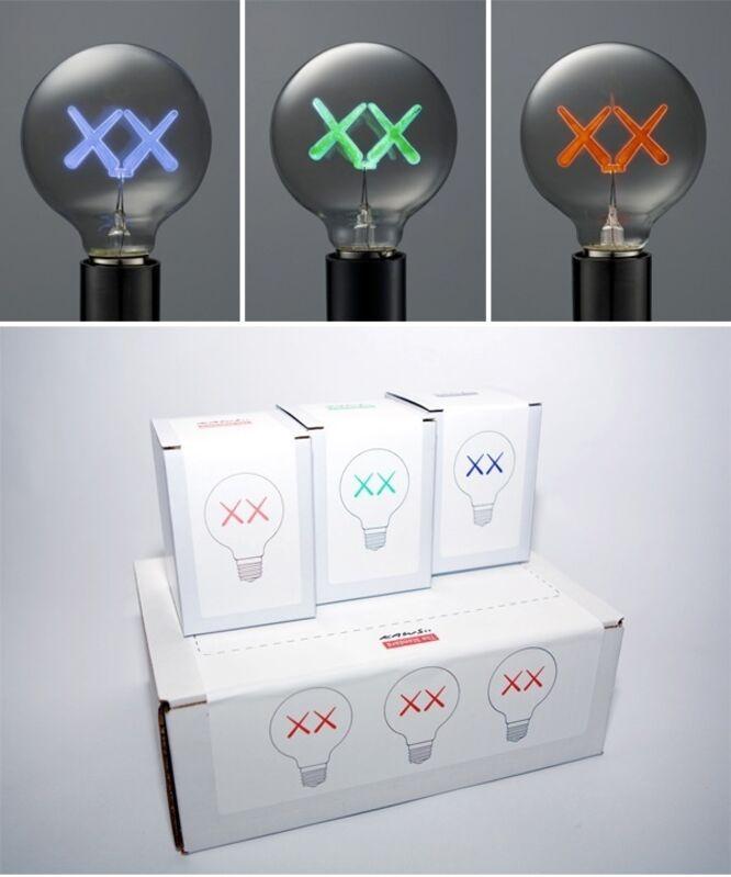 KAWS, 'Standard Lightbulbs (Red, Purple, & Green)', 2011, Other, Set of three sculptural lightbulbs, Forum Auctions