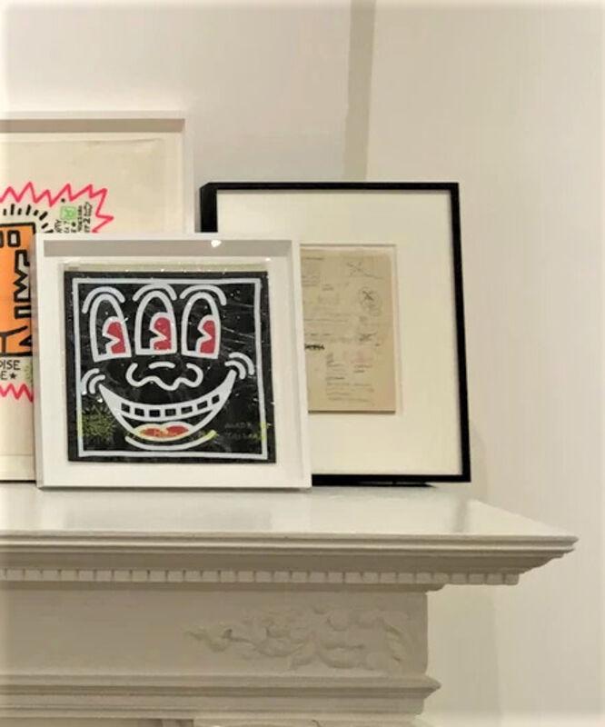 "Keith Haring, '""Three Eye Zipper Pouch"", 1980's, POP SHOP NYC, Red or Black', 1980's, Ephemera or Merchandise, Plastic, VINCE fine arts/ephemera"