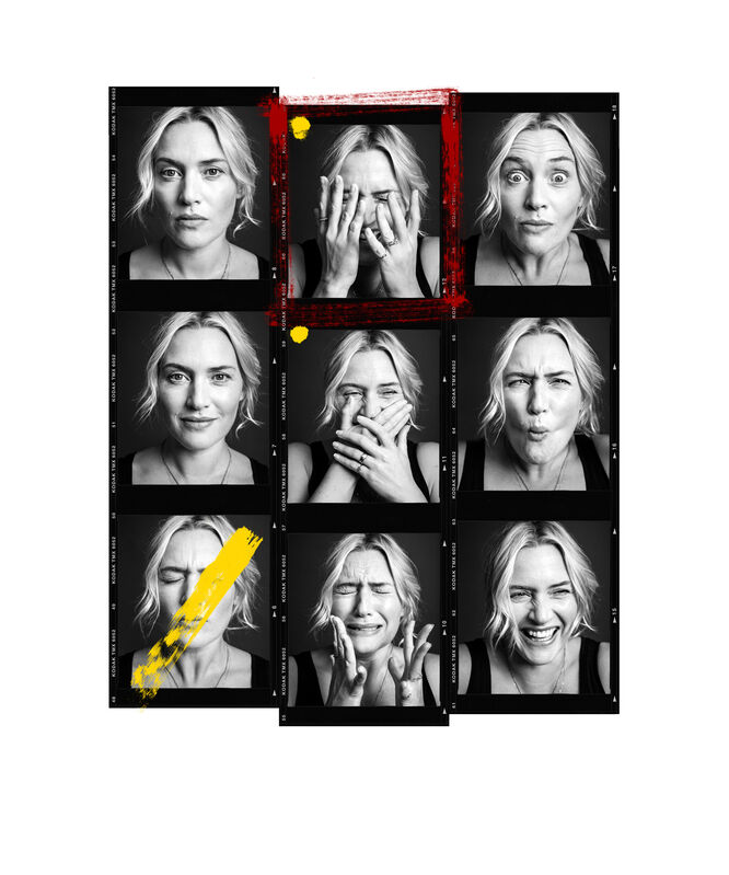 Andy Gotts, 'Kate Winslet Contact Sheet', 2013, Print, Fine Art Giclée Archival Print, Maddox Gallery